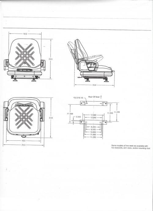 PREMIUM INTEGRATED SUSPENSION SEAT, HIP RESTRAINTS