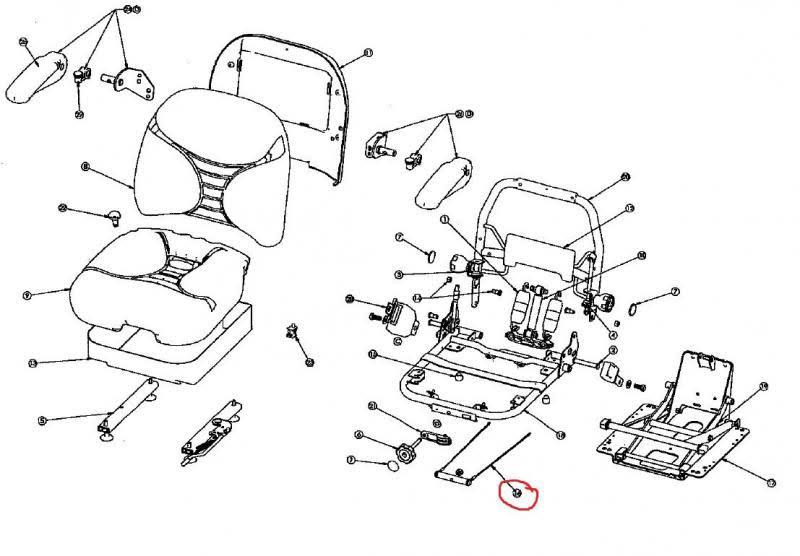 Milsco V5300 Suspension Seat Replacement Weight Adjust Kit