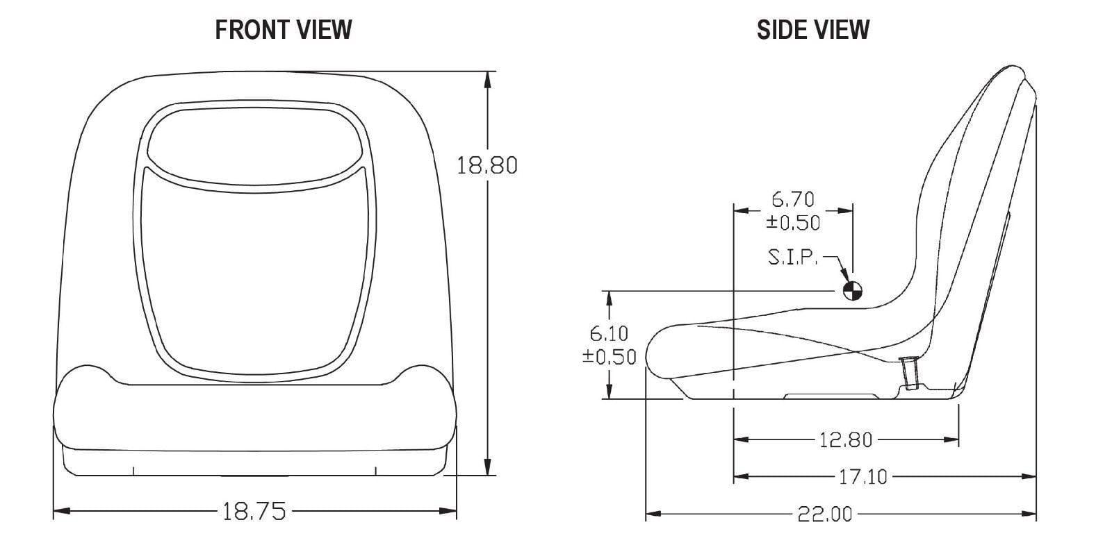 (2) HIGH BACK SEATS Toro Workman MD HD 2100 2300 4300 UTV