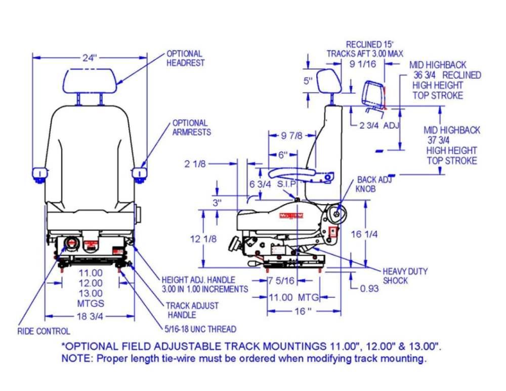 medium resolution of seats inc magnum 200 mechanical suspension seat vk
