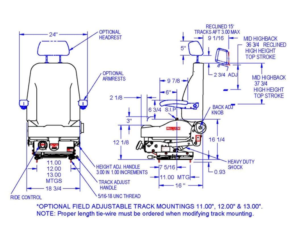 hight resolution of seats inc magnum 200 mechanical suspension seat vk