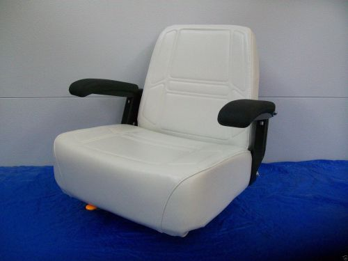 small resolution of deluxe white comfort ride seat w flip up armrests dixie chopper zero turn mowers jc