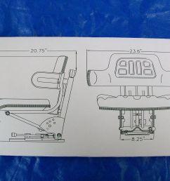 suspension seat john deere tractor yellow 1020 1530 2020 2030 2040  [ 1600 x 1200 Pixel ]