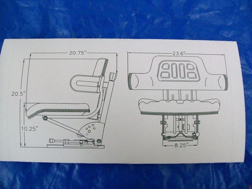medium resolution of suspension seat john deere tractor yellow 1020 1530 2020 2030 2040