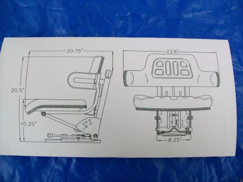 small resolution of suspension seat john deere tractor yellow 1020 1530 2020 2030 2040
