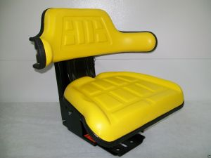 Tractor Seat Yellow Waffle Farm Tractors Universal Fit Spring Suspension #AO  Seat Warehouse