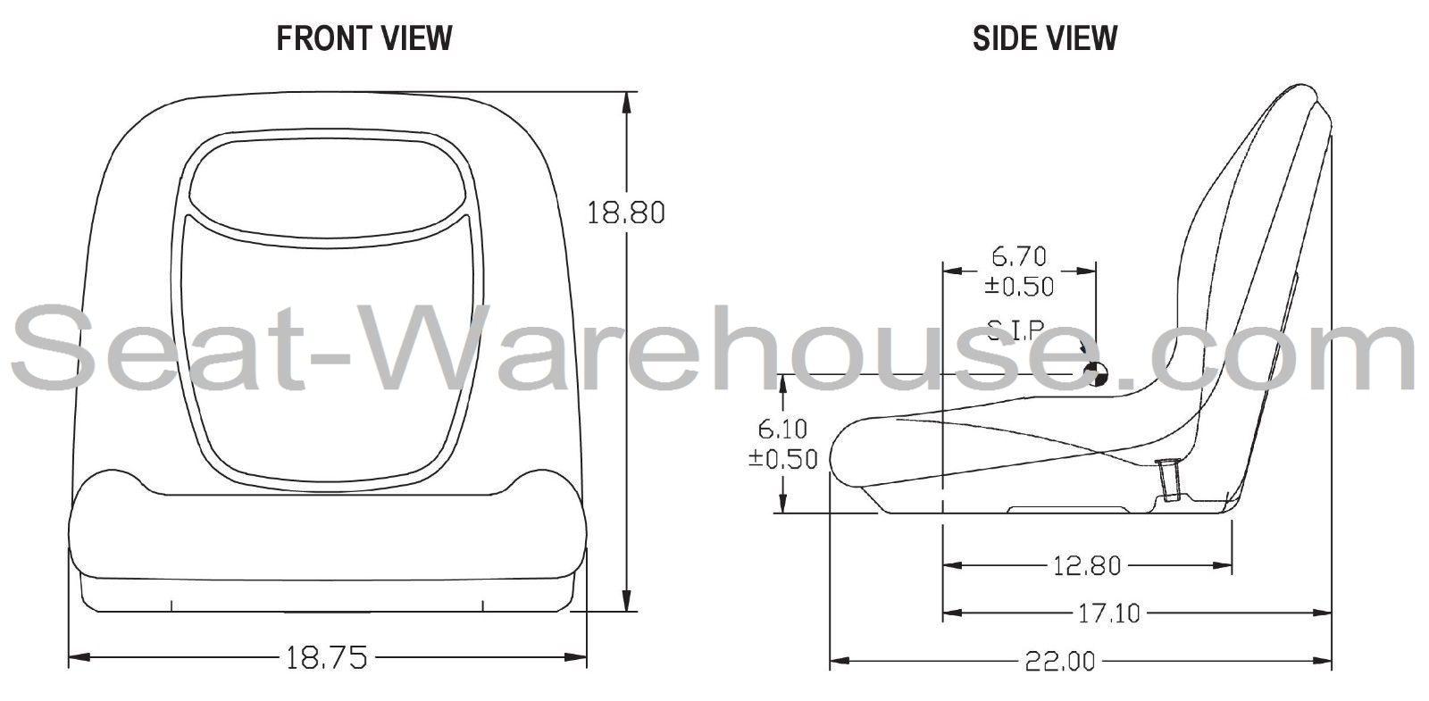 CAMO HIGH BACK SEAT w/ Slide Track Kit for Case Skid Steer
