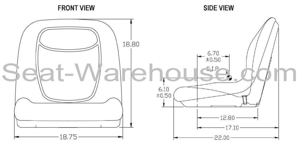medium resolution of gray high back seat w slide track kit for case skid steer loader 410 420 420ct 430 435 440 440ct 445 445ct 450 450ct 465 1530 1830 1835