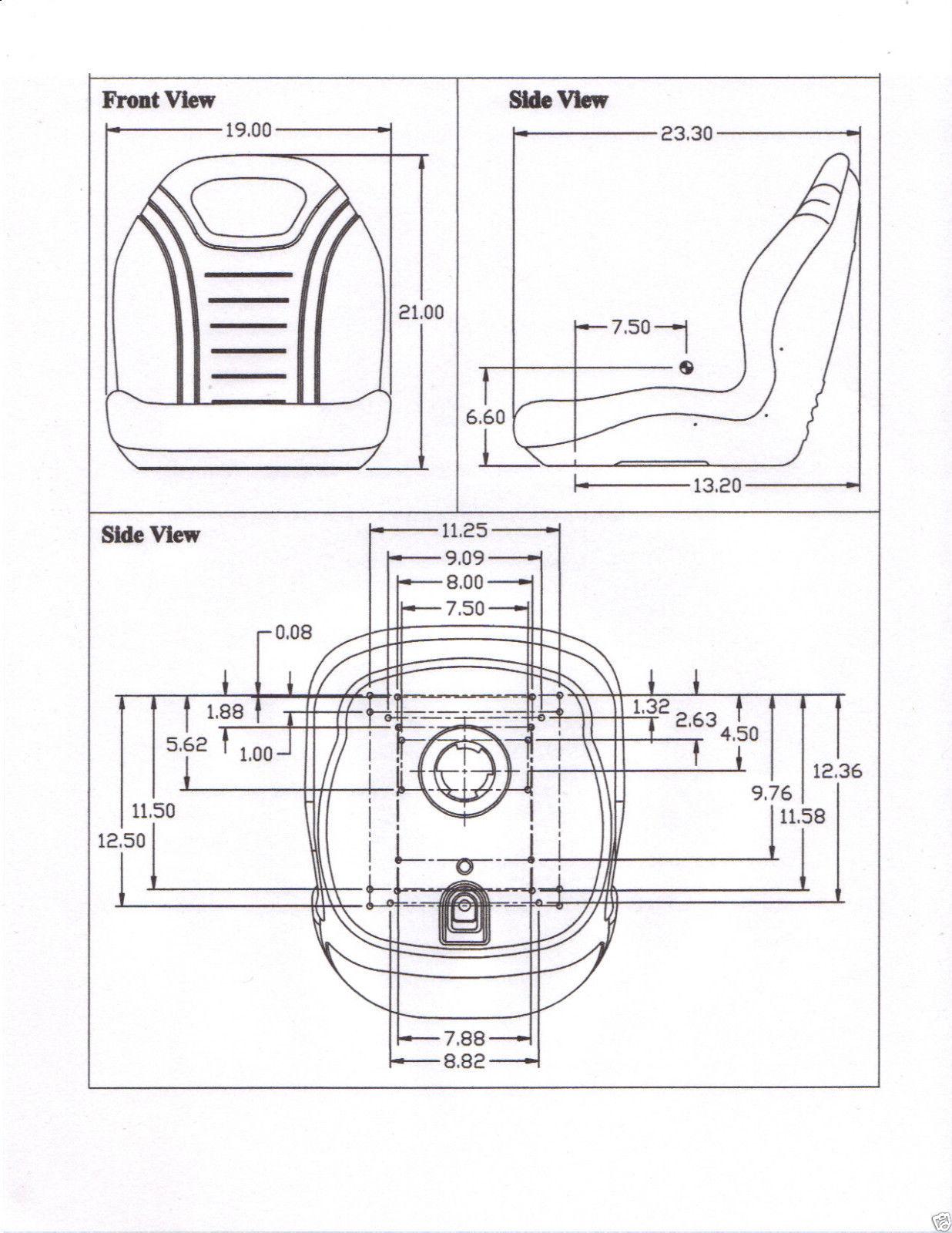 XB200 SEAT FORKLIFT, BACKHOE, BOBCAT, CASE, SKID STEER, JD