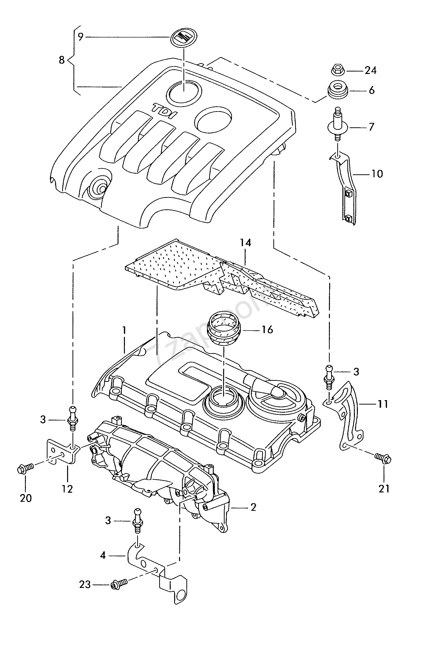 Cover For Intake Manifold Altea Alt Year Seat