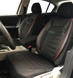 car seat covers protectors for bmw 3 series touring e46 black red v24 front seats [ 1440 x 1080 Pixel ]