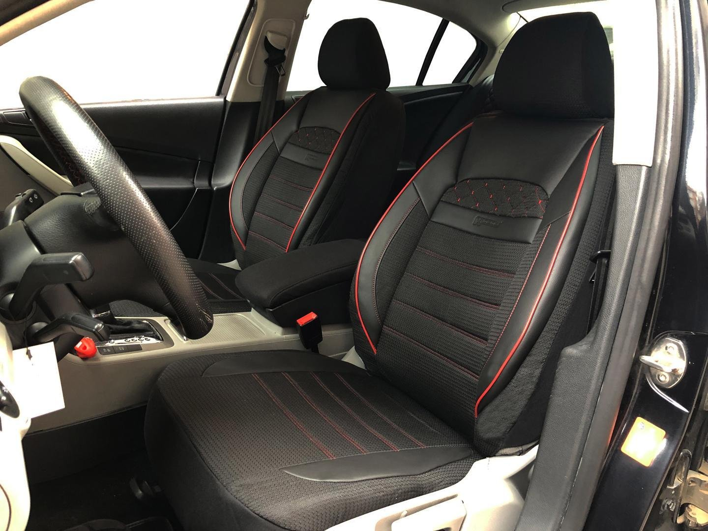 hight resolution of car seat covers protectors for bmw 3 series touring e46 black red v24 front seats