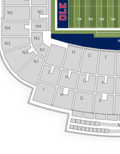Ole miss rebels football seating chart also vaught hemingway stadium seatgeek rh