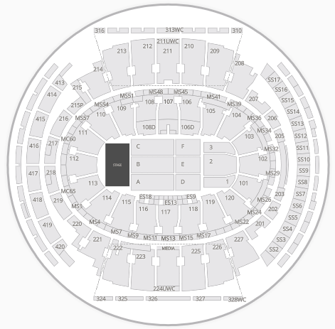 Msg seating chart phish 2017 for Phish madison square garden tickets