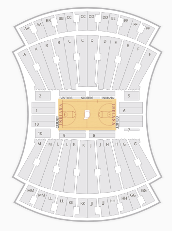 Syracuse Basketball Seating Chart : syracuse, basketball, seating, chart, College, Basketball, Stadiums