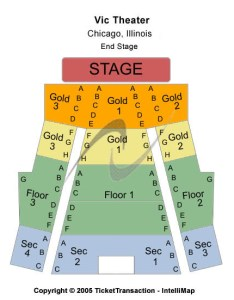 Vic theatre seating chart also sam smith chicago tickets il in rh ticketsinventory