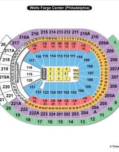 Wells fargo center end stage seating chart also philadelphia pa view rh seatingchartview