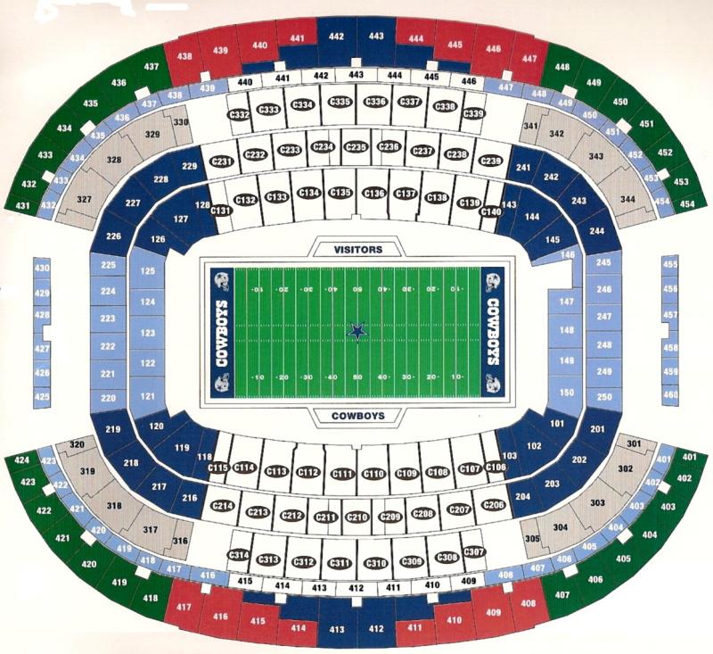 Dallas Cowboys Seating Chart Virtual