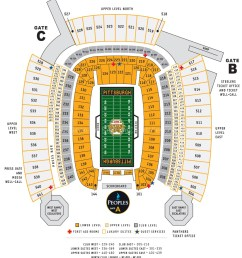 heinz field football seating chart [ 1084 x 1237 Pixel ]
