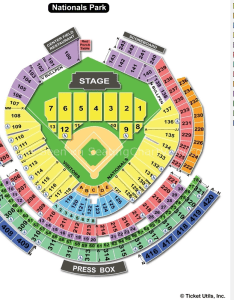 Nationals park concert seating chart also washington dc view rh seatingchartview