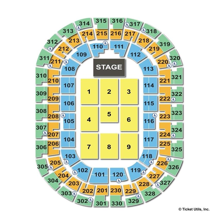 Chesapeake Energy Arena Concert Seating Chart Ofertasvuelo