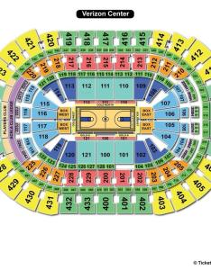Verizon center basketball seating chart also capital one arena washington dc view rh seatingchartview