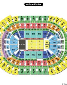 Verizon center end stage concert seating chart also capital one arena washington dc view rh seatingchartview