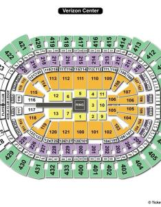 Verizon center wwe seating chart also capital one arena washington dc view rh seatingchartview