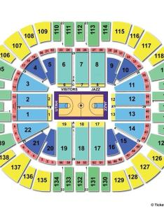 Vivint smart home arena basketball seating chart also salt lake city ut view rh seatingchartview