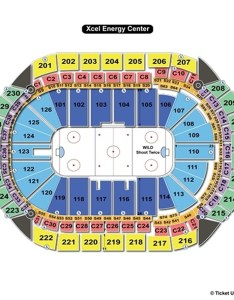 Xcel energy center hockey seating chart also st paul mn view rh seatingchartview