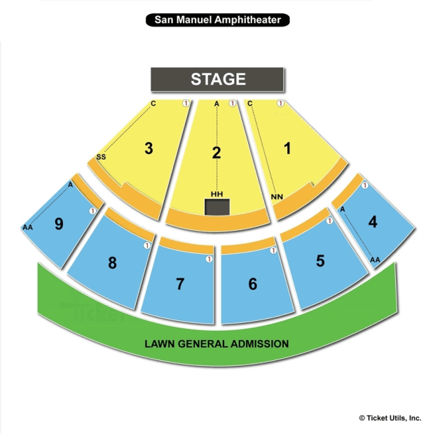 San Manuel Amphitheater Seating Chart Glen Helen Seating