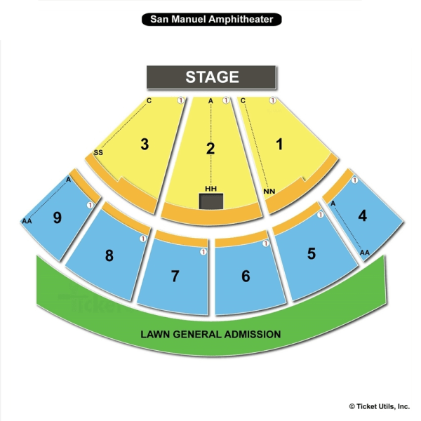 Amphitheater Seating Chart Year Of Clean Water