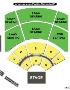 Walmart arkansas music pavilion seating chart also rogers ar view rh seatingchartview