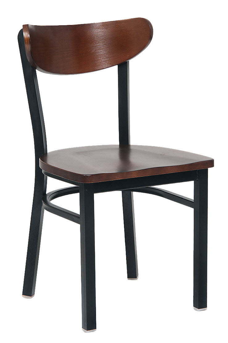 Curved Back Chair Modern Curved Back Metal Chair