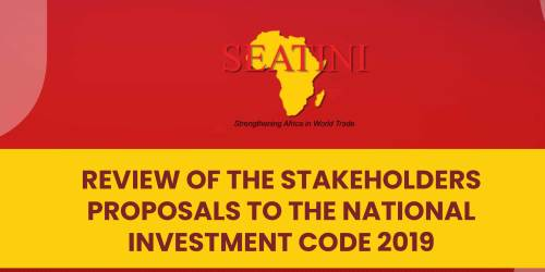 REVIEW OF THE STAKEHOLDERS PROPOSALS TO THE NATIONAL INVESTMENT CODE 2019