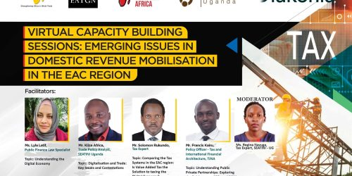 CONCEPTNOTE FOR THE VIRTUAL CAPACITY BUILDING SESSIONS ON EMERGING ISSUES IN DOMESTIC  REVENUE MOBILISATION IN THE EAC REGION