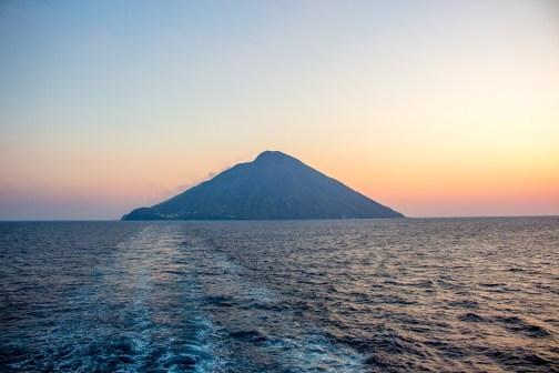 Stromboli at sunrise
