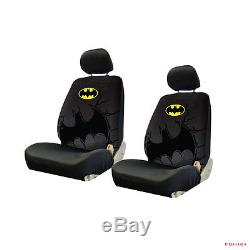 batman car chair blue french bistro chairs new 9pcs set truck seat covers floor mats steering wheel cover