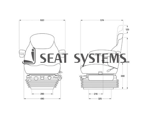 KAB Deluxe Air Suspension Seat *** Was 950.00 NOW 795.00
