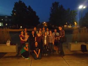 Photo of DGR members at a meeting in Oregon.