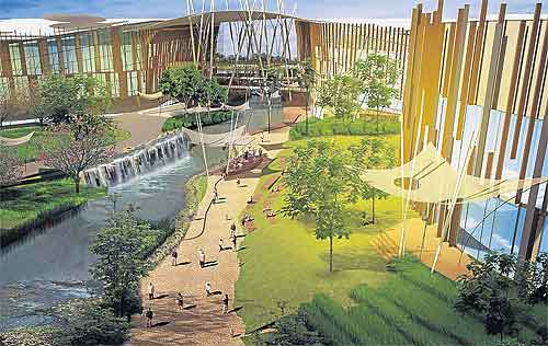 Promenada Resort community mall  living in the Land of