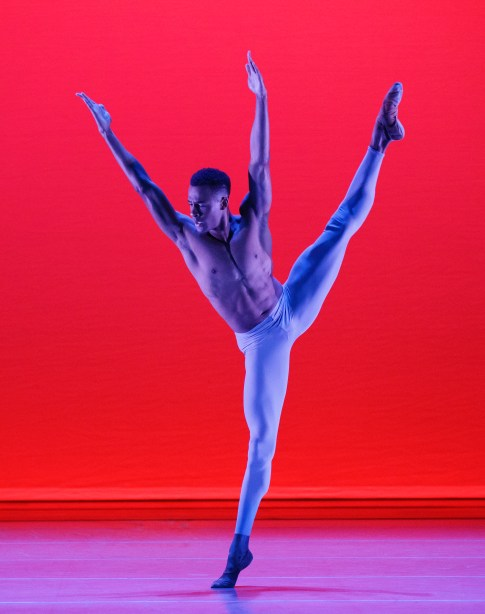 Alvin Ailey American Dance Theater's Yannick Lebrun in Alvin Ailey's The River.  Photo by Paul Kolnik