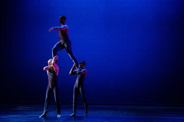 Joshua F. Brown, Dominic Moore-Dunson, and Kevin Parker in Bill Wade's Center of the Earth Photo by Colleen Dishy