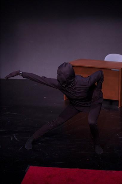 Chloe Albin as Dushawn Brown's Shadow. Photo by Joseph Lambert.