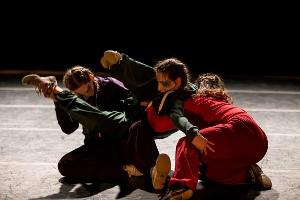 Olivia Fauver, Danica Bito, and KJ Dye in Emma Hreljanovich's Puzzle Trouble. Photo by Jazzy Photo.