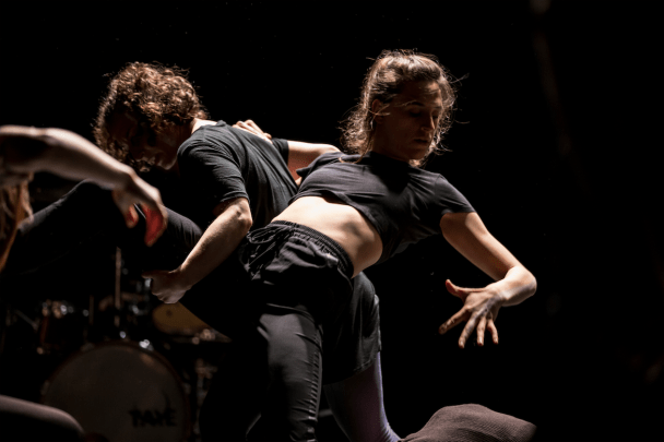 Olivia Fauver and Stacy Brenner in Ashleigh Miller's Fragments and Broken Pieces from Brain Is A Radio. Photo by Jazzy Photo.