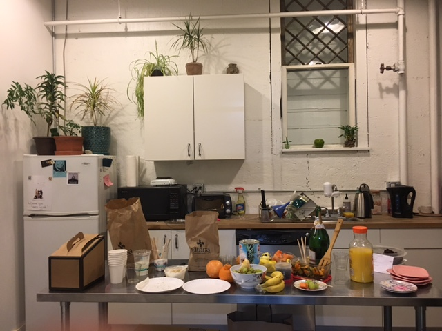 Studio Current's Kitchenette area