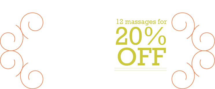 12 Massage Package Offer
