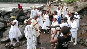 January 2016 Pilgrimage to Bimbia by members of Seattle Limbe Sister City Association and First AME Church Sarah Allen Sisterhood.