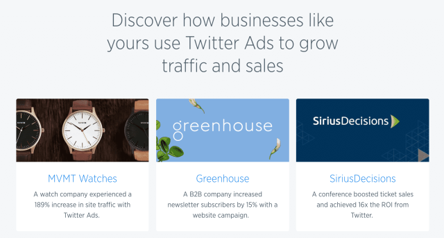 Twitter Ads - Success Stoires